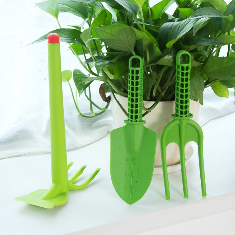 Garden tools Thick cartoon Children plastic flower Garden shovel hoe