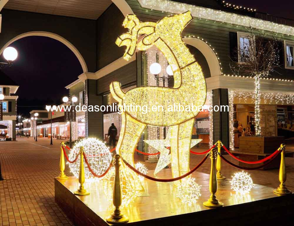 White lighted outdoor christmas deer buy lighted outdoor for White outdoor christmas decorations