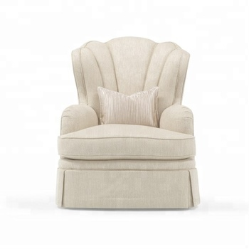 Bedroom Single Seater Wood White Sofa Chair Modern Armchair Gy10099