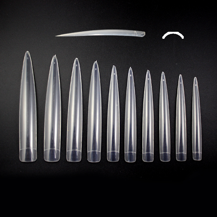 AN31 EXtra Long pointed Stiletto nail art tips Acrylic False Nail Tips Sharp Display Tips Stilleto
