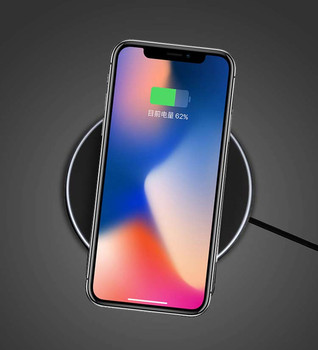 Qi Certification Ultra-Slim Wireless Charger for Samsung/iPhone