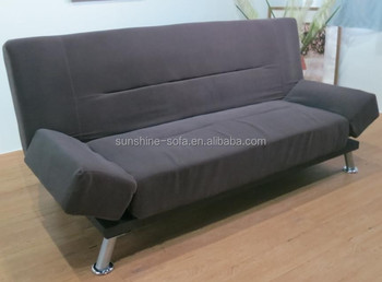 Convertible Sofa Futon Modern Adjustable Armrest Fabric Sofa Bed ...