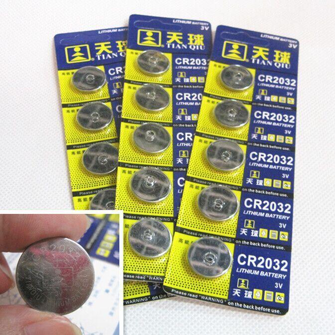 20 шт. CR2032 3 В / 210 мАч литиевая батарея CR 2032 батарея для часов игрушки плат компьютерных дистанционного управления