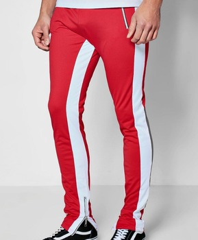 98c8efcc31ae Tracksuit Bottoms Polyester Sides Stripe Style Joggers Elasticated Waist  Gym Track Pants Joggers