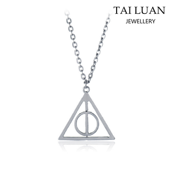 Simple Design Triangle Pendant Necklace Cheap Harry Potter Movie Jewelry ,  Buy Movie Jewelry,Cheap Movie Jewelry,Harry Potter Movie Jewelry Product on