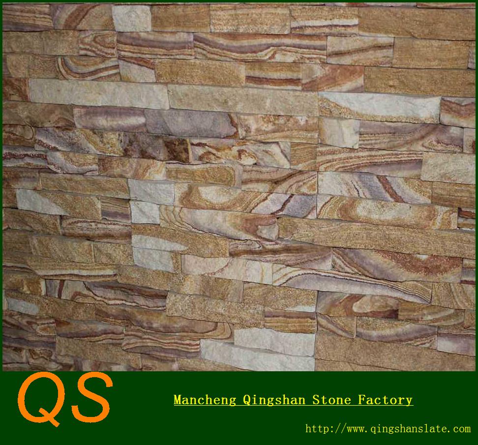 Fachada del edificio de dise o de piedra natural piedra - Piedra pared exterior ...