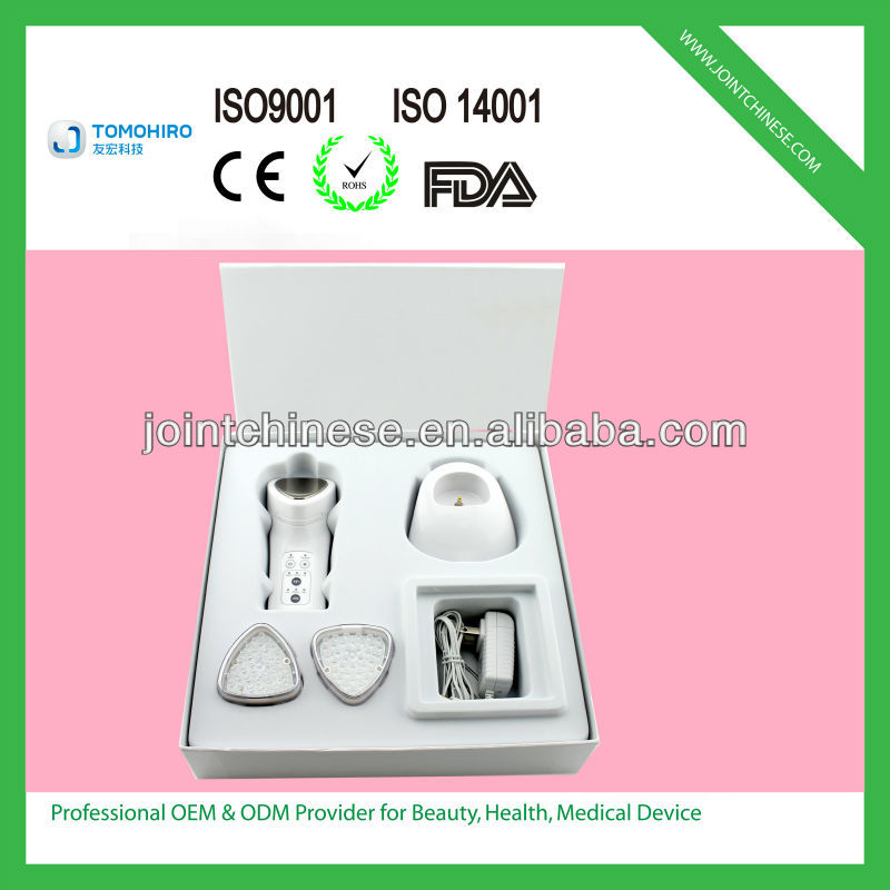 Beauty in hand 3-in-1 Rechargeable IPL LED light photon galvanic microcurrent facial tool beauty equipment