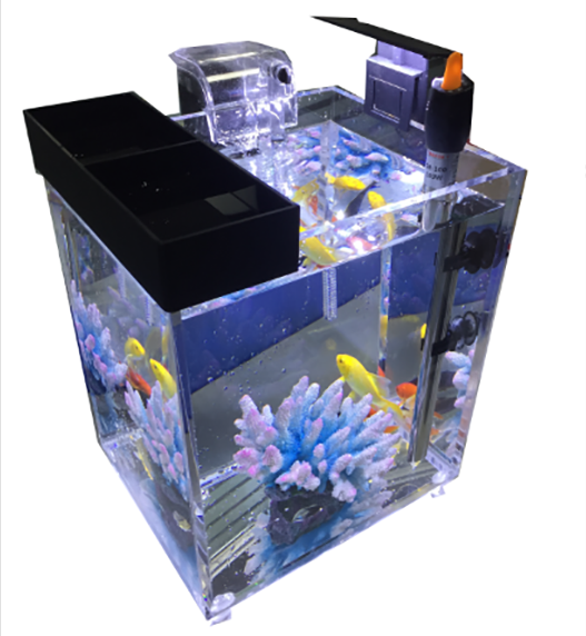 Acryl Cube Aquarium Aquarium met LED licht/Power Filter/Temperture Regulator