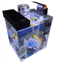 Acryl Cube <span class=keywords><strong>Aquarium</strong></span> <span class=keywords><strong>Aquarium</strong></span> met LED licht/Power Filter/Temperture Regulator