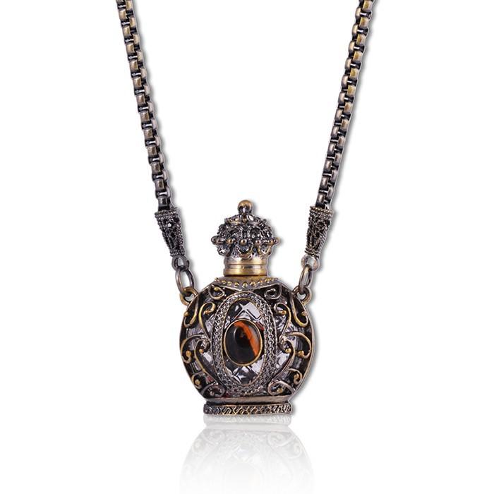 Glass Bottle Pendant Necklace,Essential Oil Pendant Necklace ...