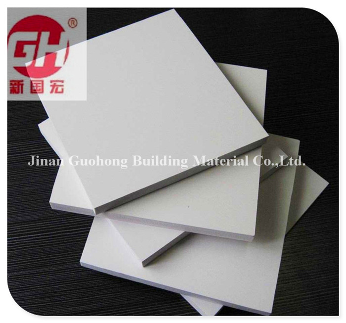White 2017 hot sale PVC foam board 6mm 9 mm 12 mm 18 mm 8 x 4 feet Density 0.55