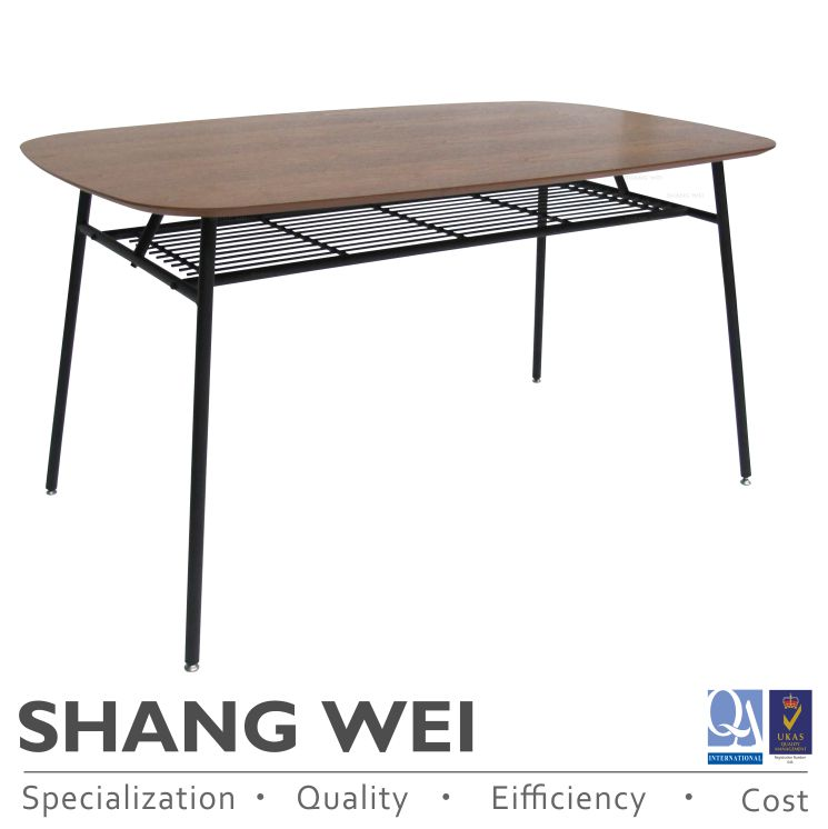 Taiwan oval solid walnut wooden MDF large dining table