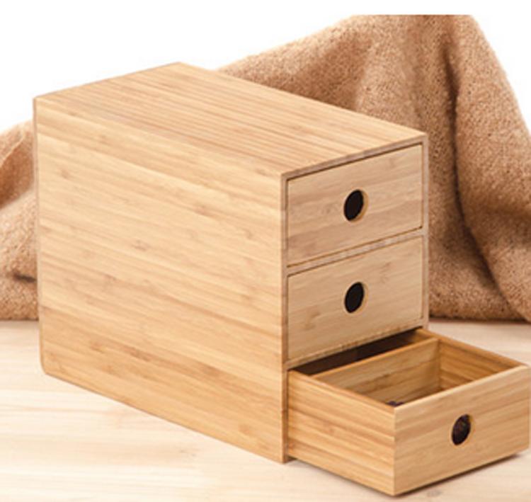 bureau bo te de rangement de petite armoire tiroirs de bambou bo te de rangement en bois. Black Bedroom Furniture Sets. Home Design Ideas