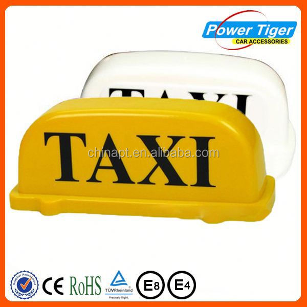 hote sale 12V taxi car top sign