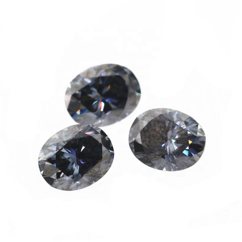 Custom dark gray moissanite oval brilliant cut 1ct 2ct 3ct grey moissanite diamond фото