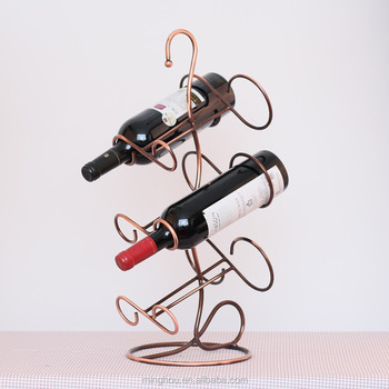 wire wine rack. 2017 Wrought Iron Wine Rack Tabletop Decorative Wire Botlle Holder