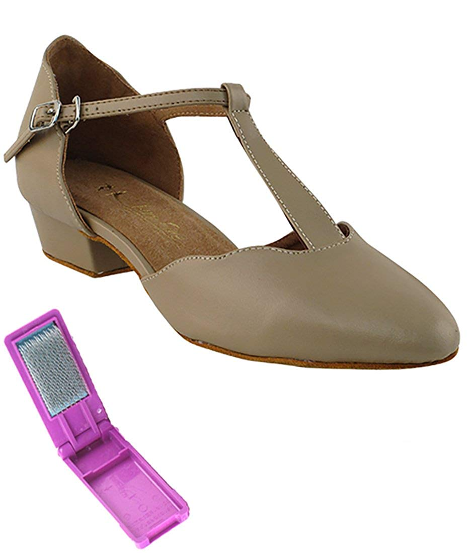 675b2308f Get Quotations · Very Fine Ballroom Salsa Practice Dance Shoes for Women  6819FT 1-Inch Heel + Foldable