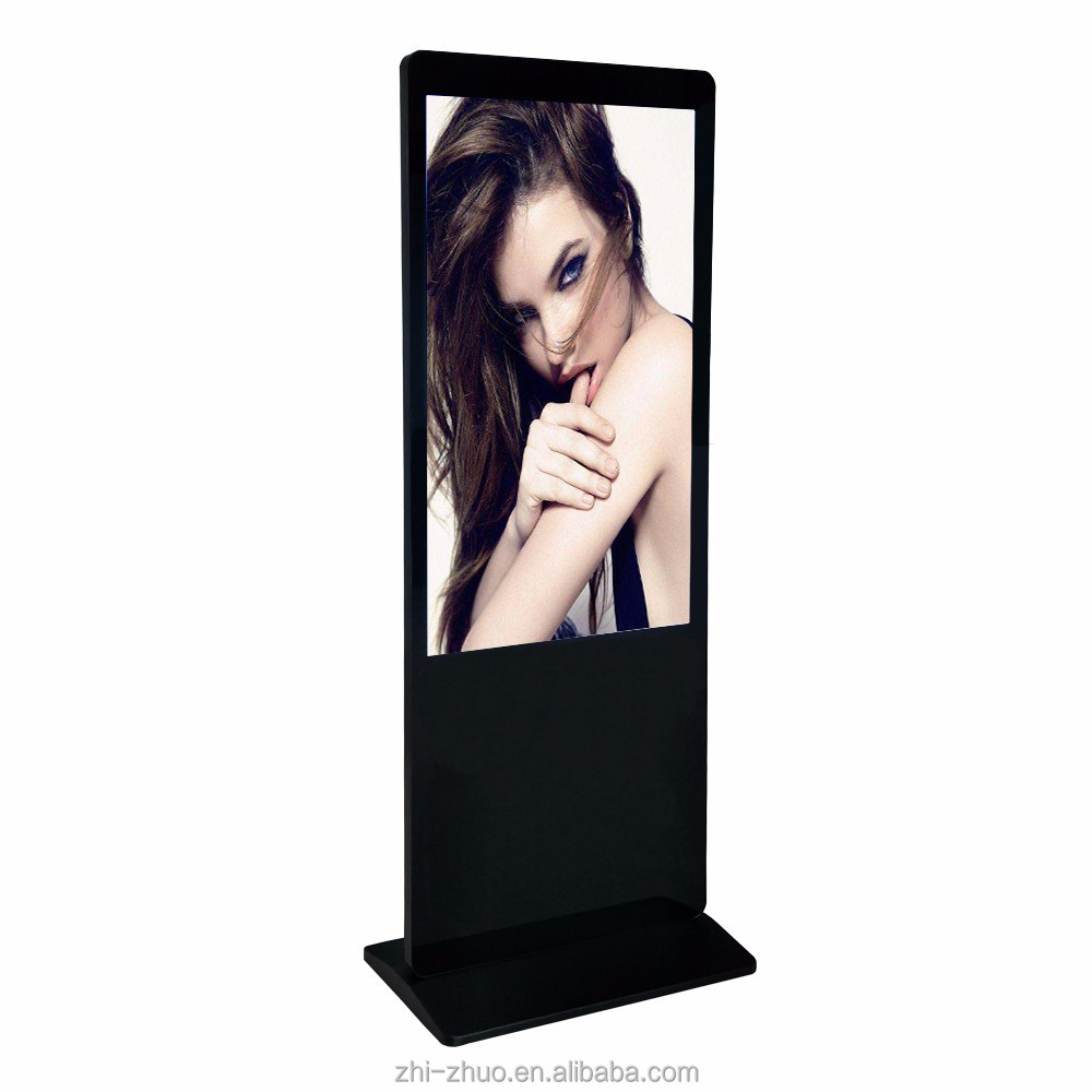 Smart floor stand HD 42 inch advertising split screen video player digital signage with motion sensor