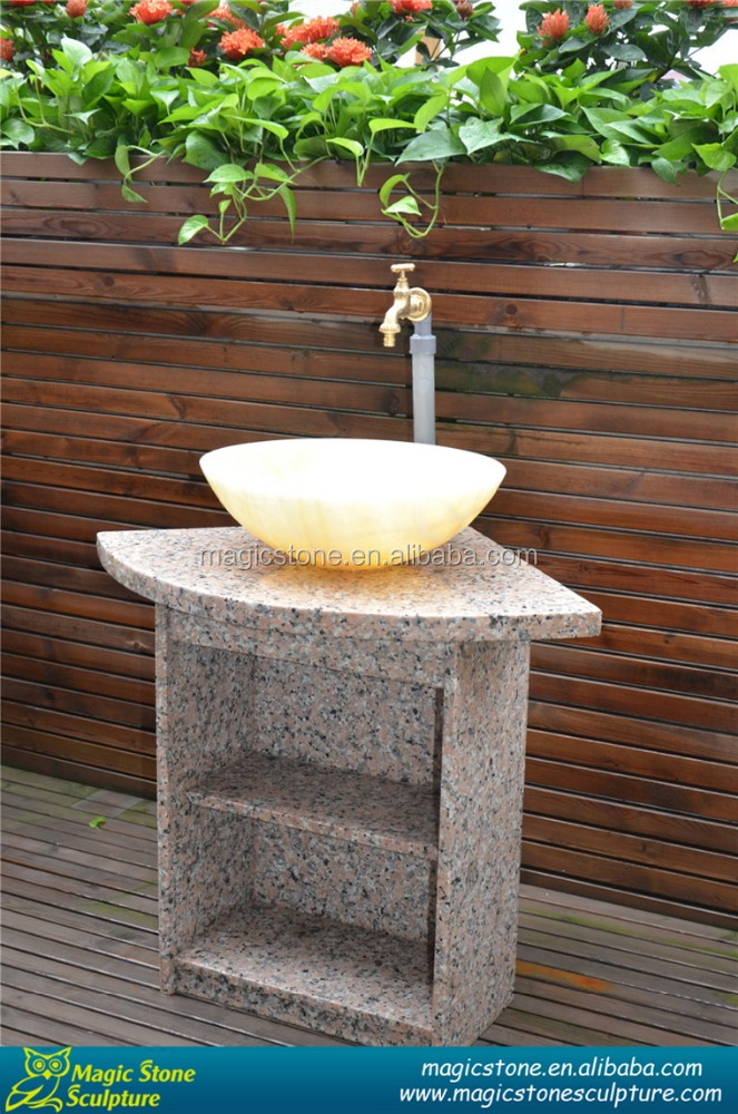 Outdoor hand wash basin pedestal