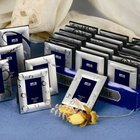 Aluminum Photo Frame Metal Assorted Designs Silver Plated Metal Mini Photo Frame