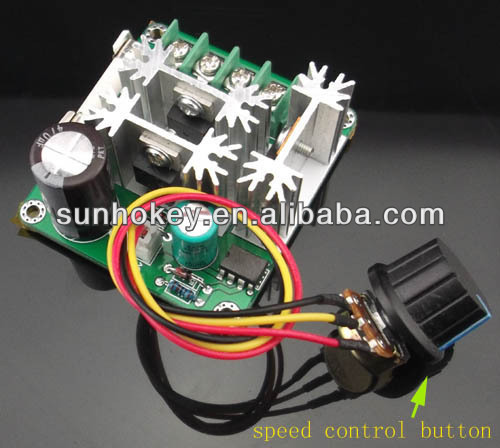 DC Motor Controller PWM DC Motor Speed Controller PLC 6V-90V 15A 1000W