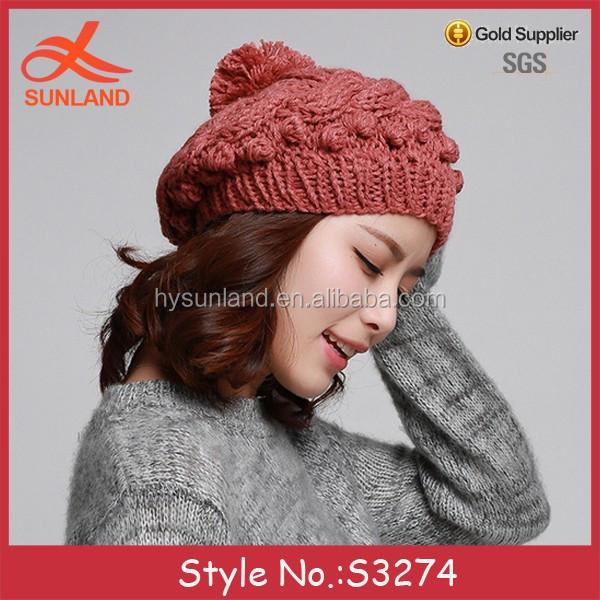 S3274 Nuevo 2018 Invierno Crochet Tejer Patrones Pom Boina Sombreros ...