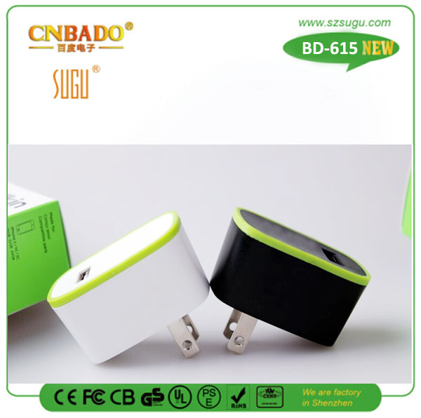 Electronic fashion usb interest customized dual usb wall charger quick deliver for mobile phone