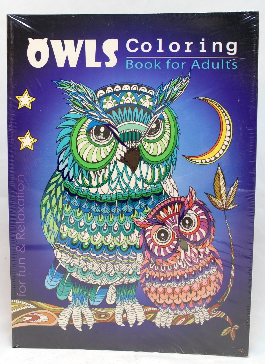 Oceanis Adult and Teen Coloring Book Hoot Owls Bird Theme for Fun and Relaxation