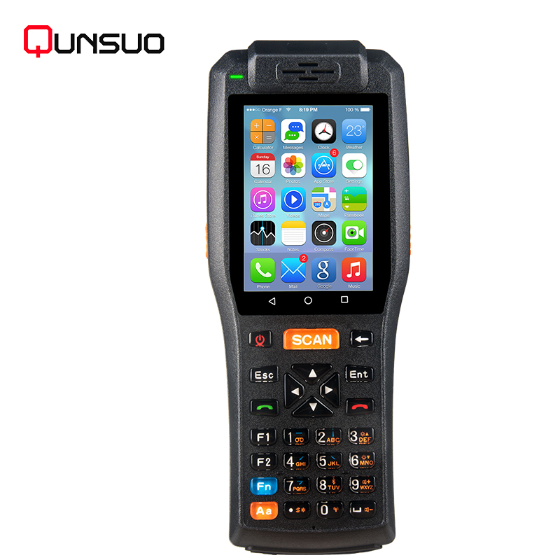android 6.0 barcode scanner printer pda portable data collect rugged mobile computer