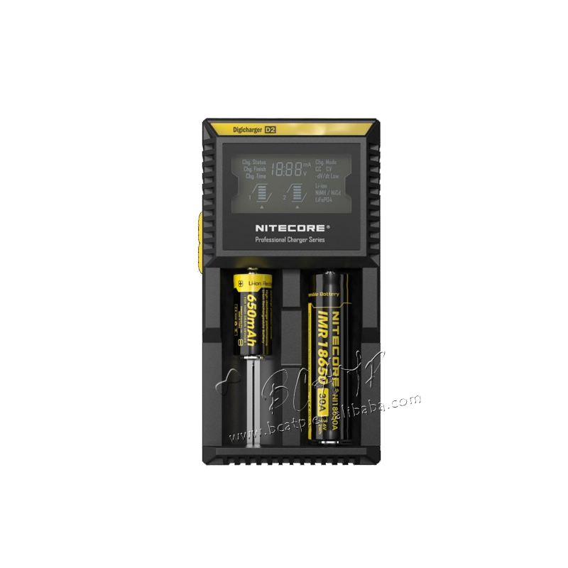 factory promotion price Bulk buy charger Nitecore D2 Universal charger 18650 charger IMR/Lifepo4/NiMh/NiCd AA AAA battery charge