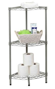 3cdiy 4 tiers wire metal toilet bathroom corner shelf exporting to over 50