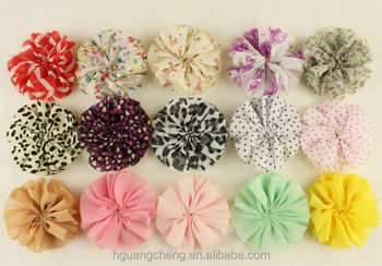 2014 New Design DIY Handmade Ballerina Chiffon Fabric Flower Wholesale 25quot