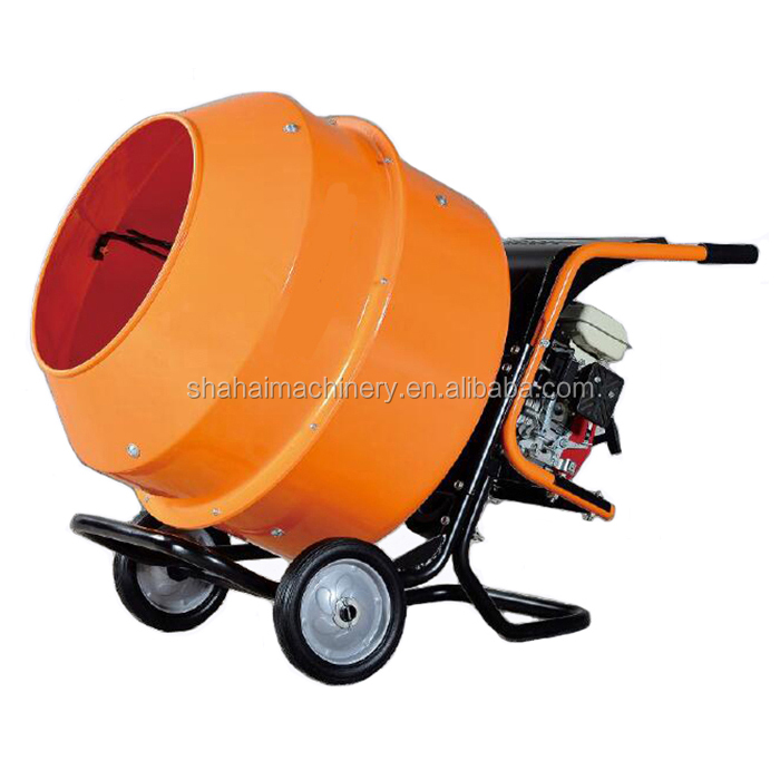 240l movable petrol power portable cement mixer for family use