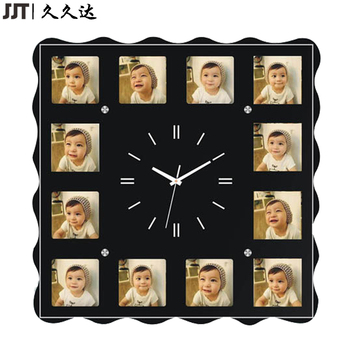 Wonderful Personalized 12 Photo Frame Watch Wall Clock Modern Clock For Wall Any  Color Acceptable Images