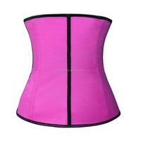 zip up waist trainer with 100% natrual Latex material and 9 pcs memory alloy steel boned