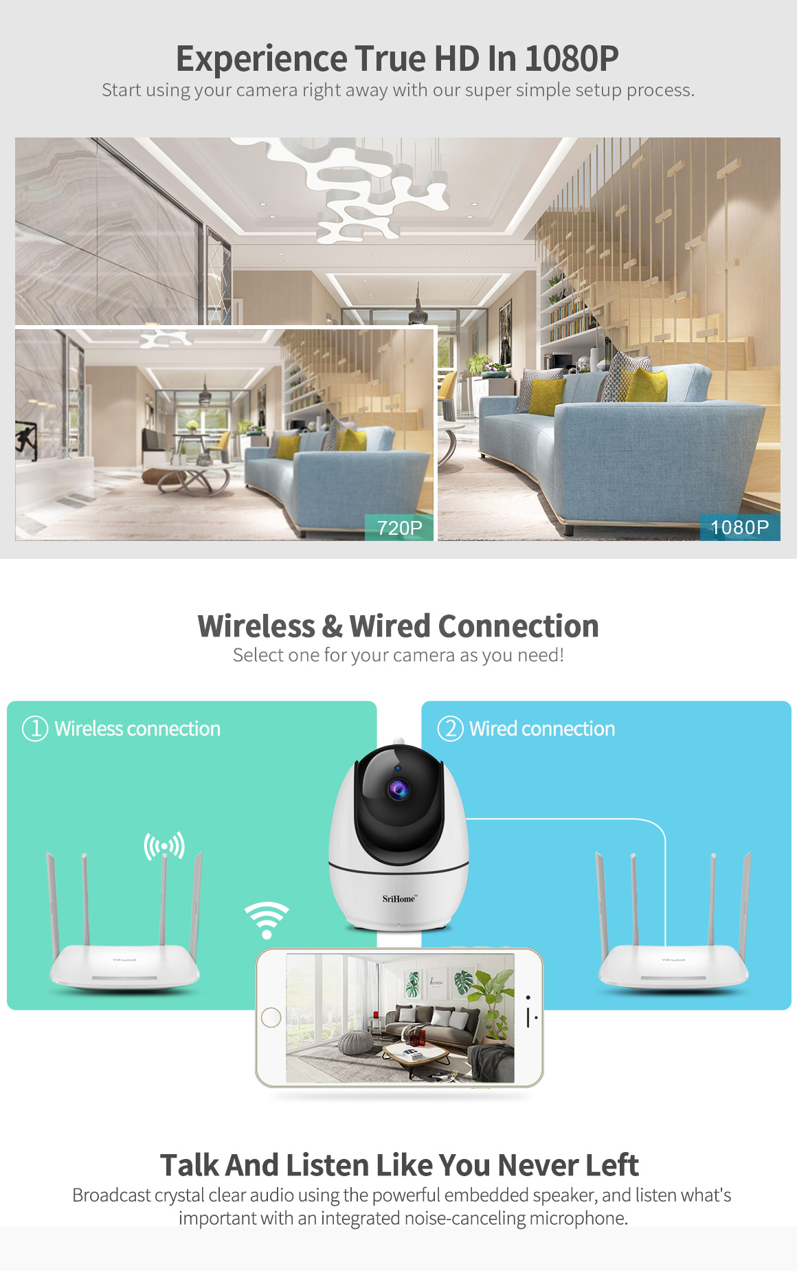 Sricam New model SH026 Wifi mini Camera 2.8mm lens Onvif support nvr CCTV Wireless IP Camera