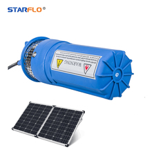 STARFLO 6LPM dc solar powered submersible water pumps 30m depth / portable solar water pump