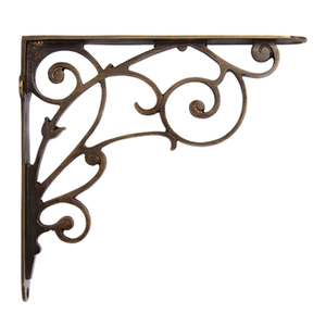 Vintage Corner Triangle Iron Shelf Bracket L Metal Bracket Industrial Decorative