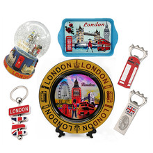 London Tower Souvenir UK Piastra di Fascini Portachiavi Magnete Inghilterra Palle di Neve UK London Souvenir Su Misura
