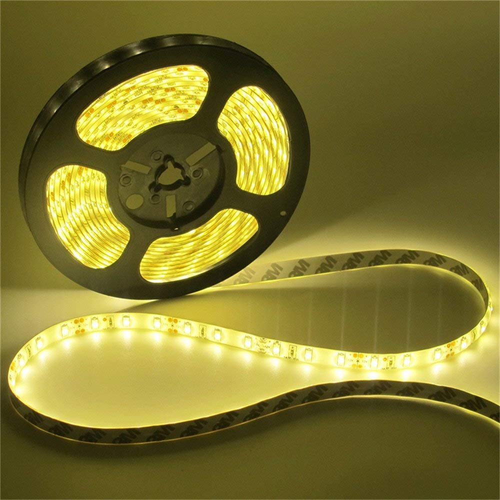 SuperonlineMall Led Strip Lights, trade; 5630 SMD 300LEDs Non-Waterproof Flexible Xmas Decorative Lighting Strips, LED Tape, 5M 16.4Ft DC12V (Warm White)