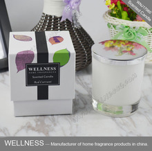luxury customizable white glass candle for gift set