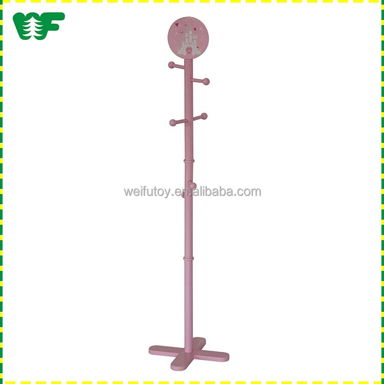 China supplier kids colorful coat stand wooden
