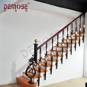 Demose hierro forjado barandas para escalera interior - Escaleras de hierro forjado ...
