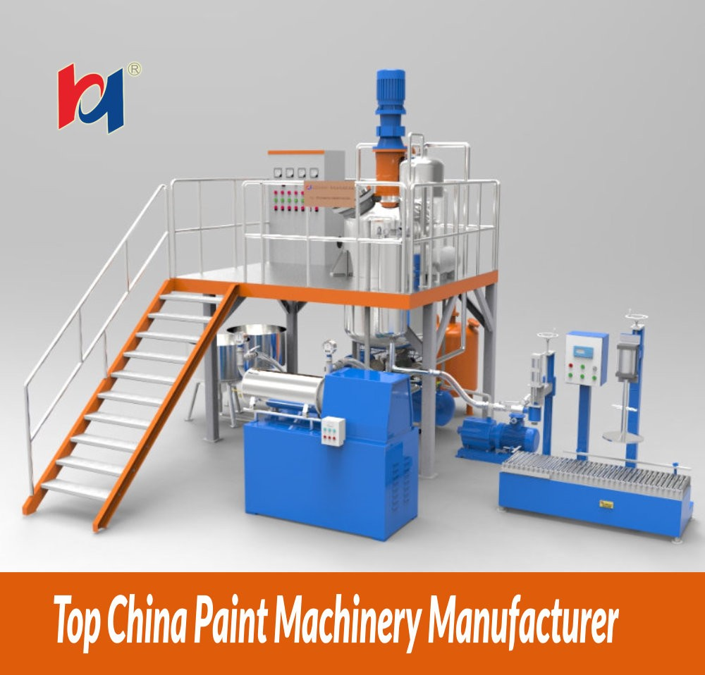 Machine for making paint production line , high quality paint mixing machineReal Stone Paint Special Equipment Soap making machi