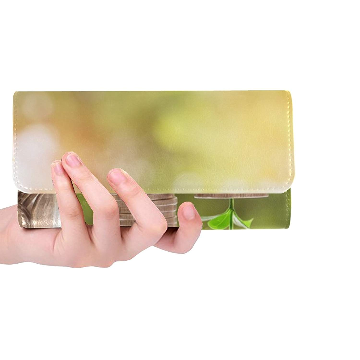 Money Home Coin Investment Business Finance Bank Custom Womens Wallet Womens Trifold Wallet Long Purse Card Cases