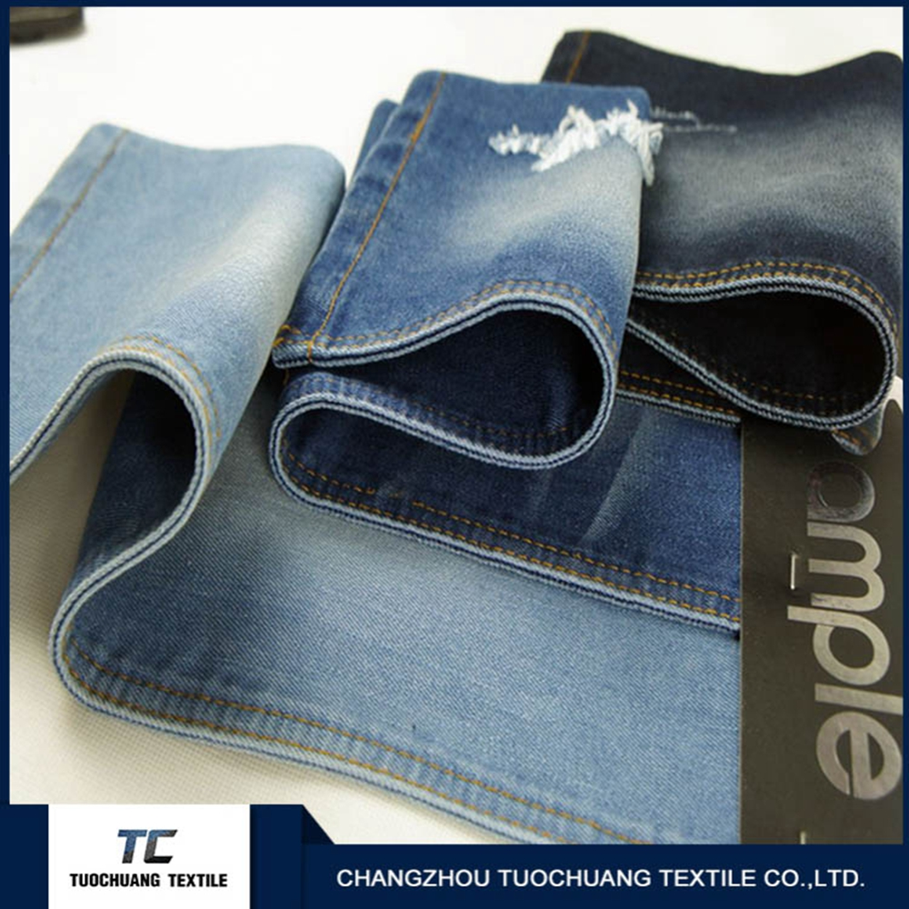 100% cotton denim fabric made of women jeans