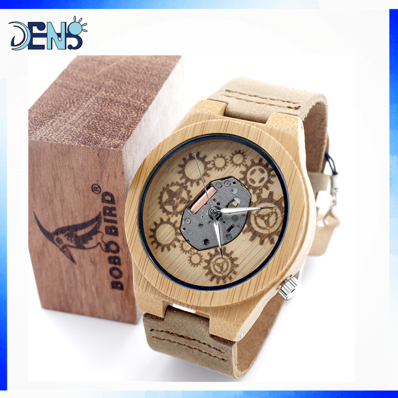 2017 Lady Women Man Wrist Smart Wooden Watch BoBo Bird Watch