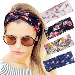 Fashion Print Cross Boho Cotton Headband For Women
