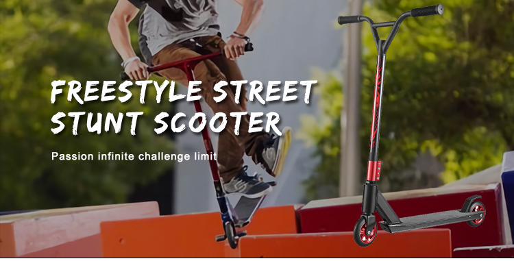 Chinese Factory Freestyle Custom 2 Wheels Scooter Pro Stunt Scooter For Adult Wholesale
