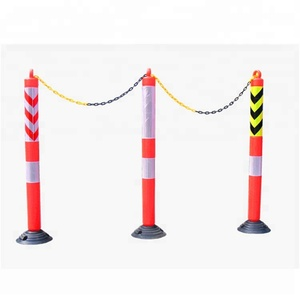 Rubber PE Flexible Warning Post With High Visibility